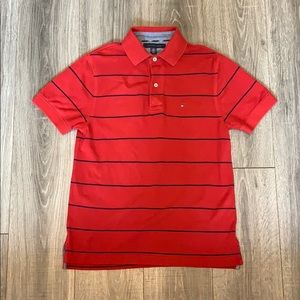 Tommy Hilfiger Red and Blue Stripe Polo